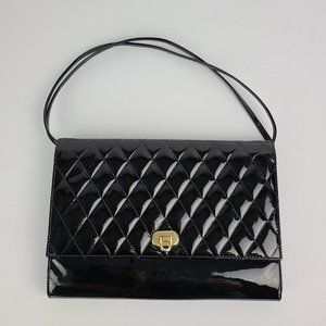 Arnold Churgin Black Patent Leather Clutch